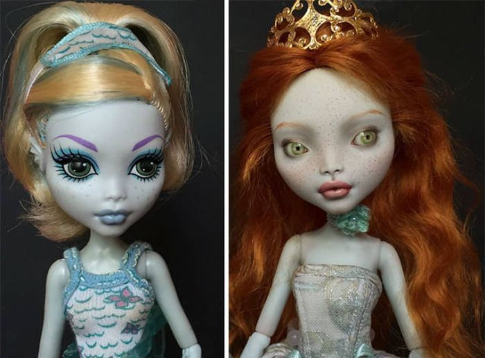 Ukrainian Artist Transforms Popular Dolls Into Real Beauties