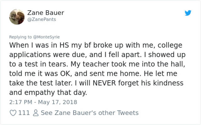 This Teacher's Reaction To A Student Falling Asleep In His Class Has Received Lots Of Positive Feedback From The Internet