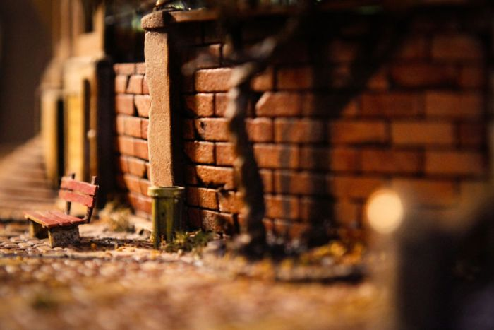 A Modern City Miniature Of The Oscar Wilde's 'Happy Prince'