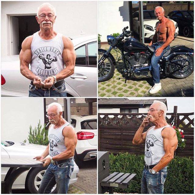 74 Year Old Heinz-Werner Bongard Is A Strong Man