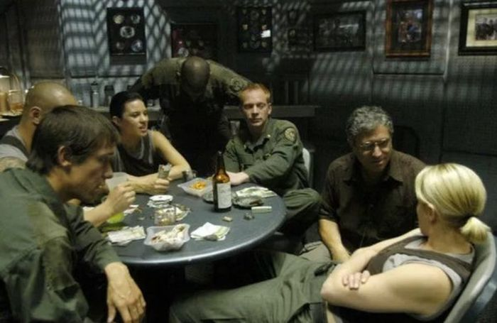 Actors Chilling Behind The Scenes In Costumes