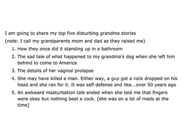 Weird Things Grandparents Say