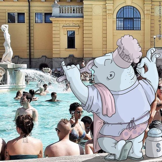 Artist Invades Instagram Photographs With Funny Illustrations