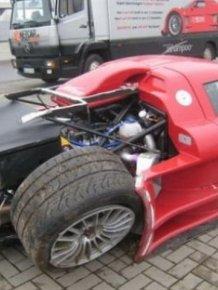 Crashed supercars