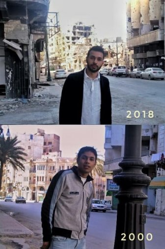 Benghazi, Syria in 2000 And 2018