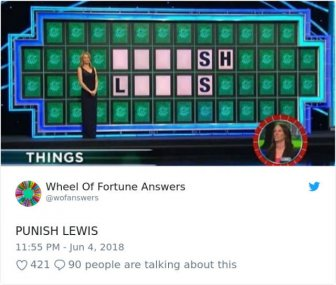 """The Only Correct Answers To """"Wheel Of Fortune"""""""