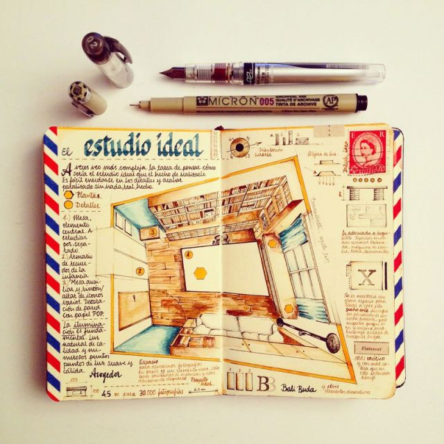 This Artist Keeps the Most Beautiful Sketchbooks I Have Ever Seen