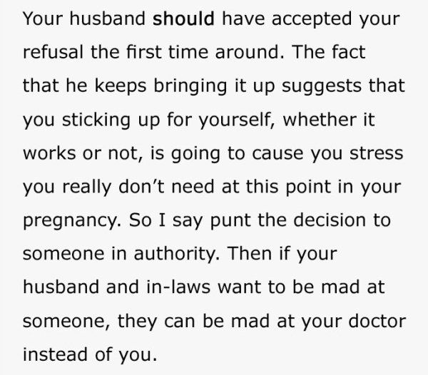 Pregnant Woman Asks What To Do With Husband Who Wants His Parents In The Delivery Room, Gets Best Advice Ever