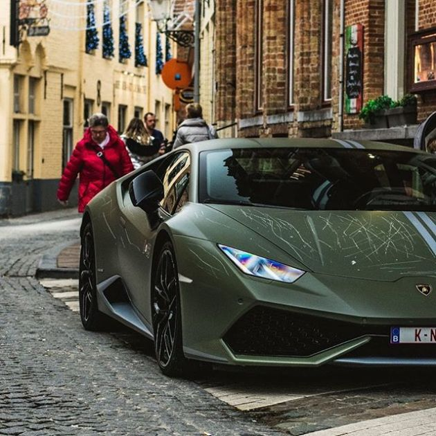 Vandals Destroy Lamborghini