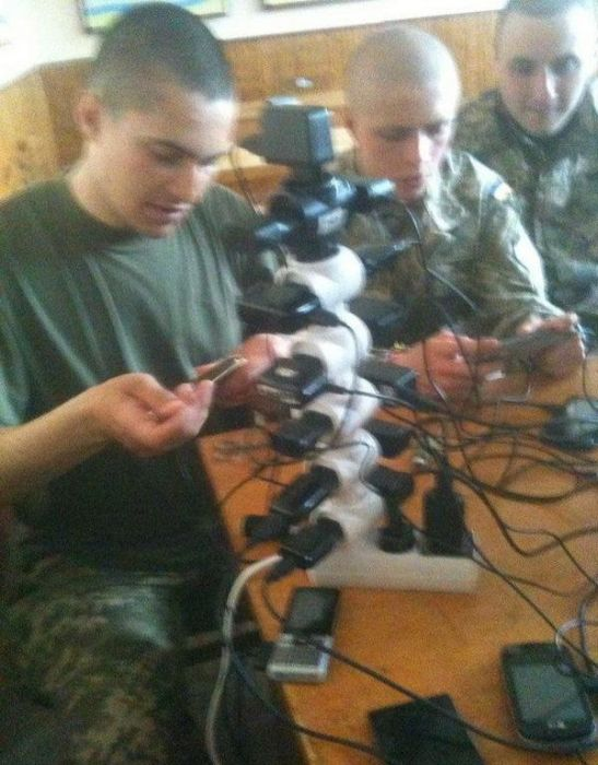Russian Soldiers Are Creative When It Comes To Charging Their Phones
