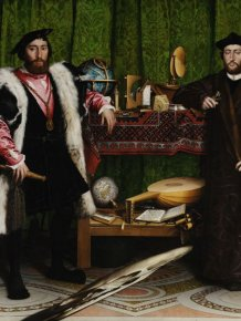 Hidden Illusion In The Ambassadors Painting By Hans Holbein the Younger, 1533