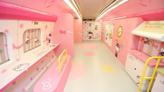 Hello Kitty Train In Japan