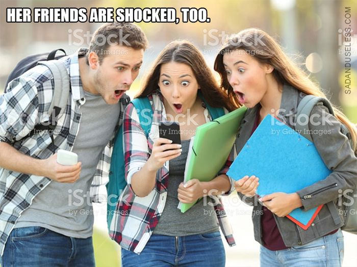 Girl From the Distracted Boyfriend Meme Is Really Shocked Now