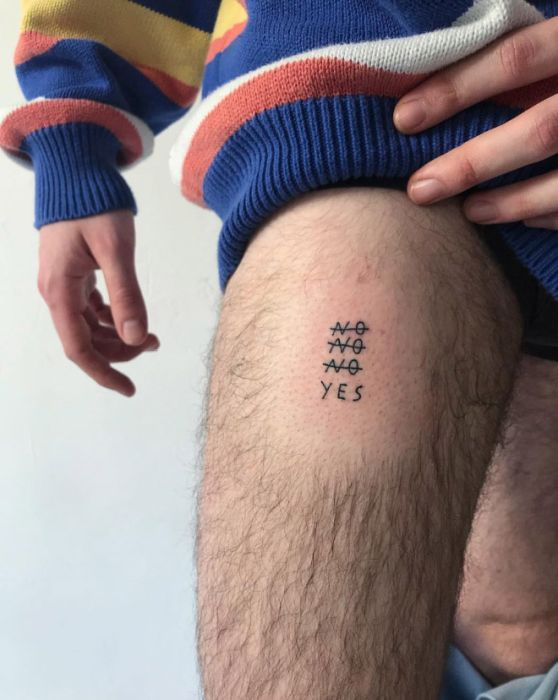 People Trust This Tattoo Artist As He Writes Whatever He Wants On Their Bodies