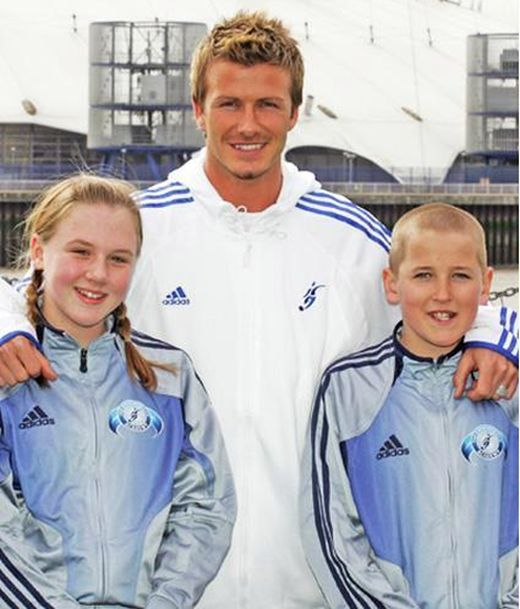 Harry Kane And His Wife Made a Photo With David Beckham 13 Years Ago