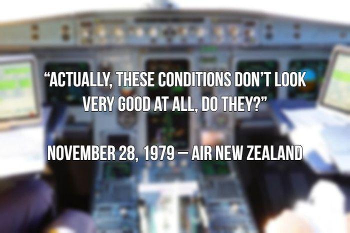 Last Words Spoken By Pilots Before Crashing