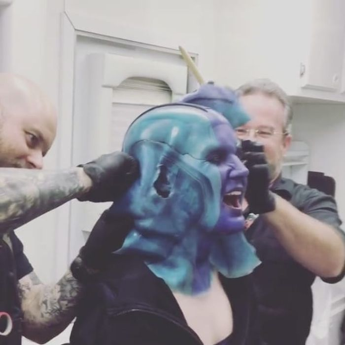 Behind-The-Scenes Photos Of Marvel Movies