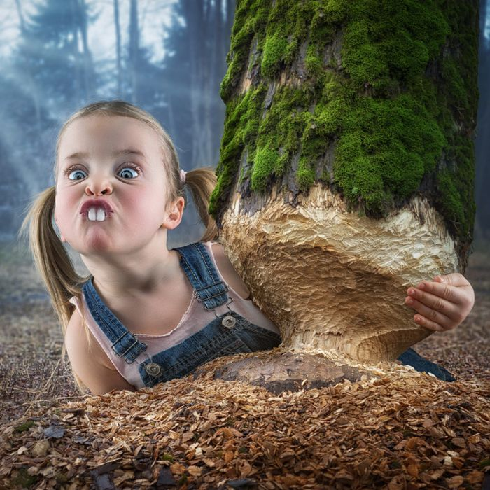 Dad Photoshops His Kids Into Funny Situations
