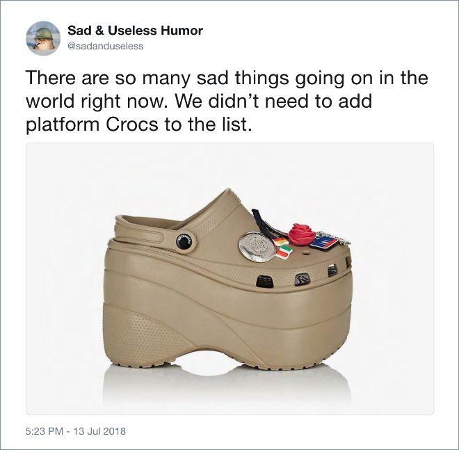 Platform Crocs Is A New Trend