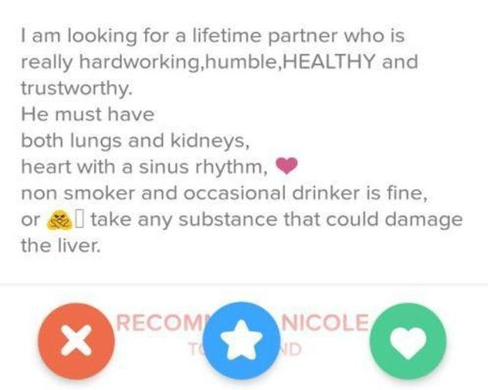Nurse's Creepy Tinder Profile