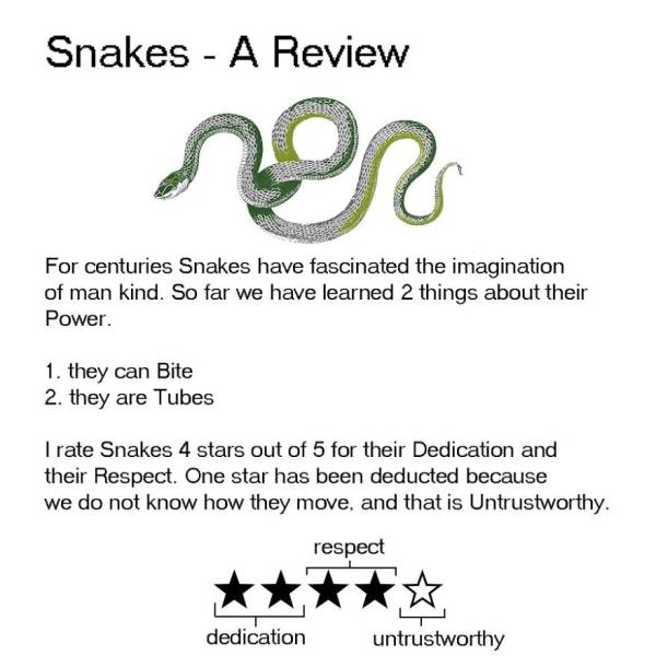 Animal Reviews