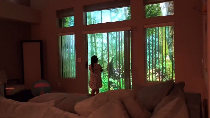 Dad Surprises Daughter By Making Dinosaurs Roam Their Backyard