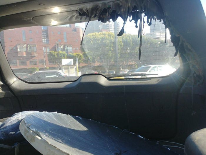 A US Driver Bought A Parabolic Mirror And Left It In The Car. The Weather Was Sunny