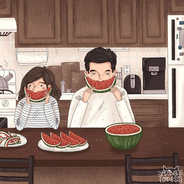 Joys Of Couple's Life In Heartwarming Illustrations