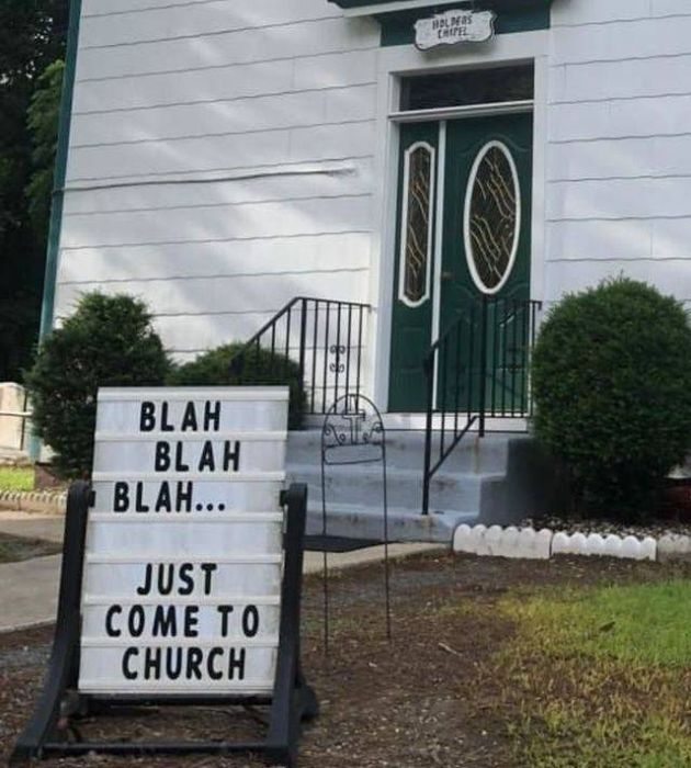 Funny Church Signs