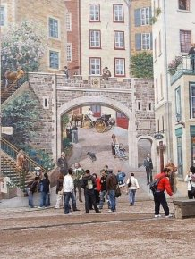 Beautiful Murals On The Streets Of Quebec