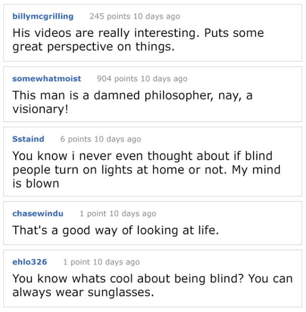 The Best Things About Blindness Told By A Blind Man