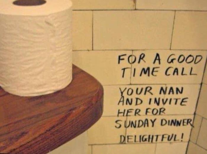 Funny Public Bathroom Graffiti