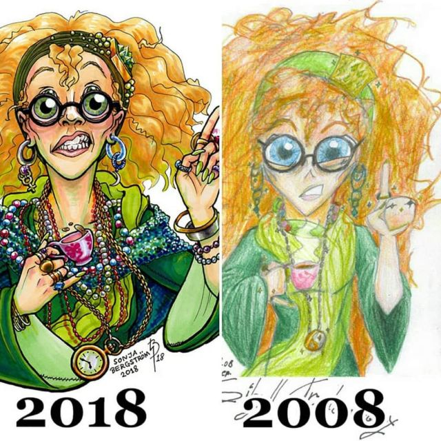 Artists Redrawing Their Old Work