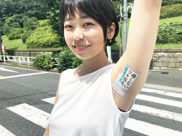 Japanese Advertising Company Selling Space On Women's Armpits