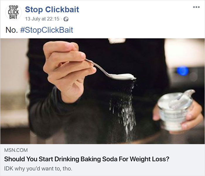 Stop Clickbait Is The Best