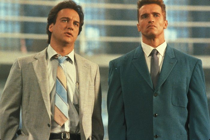 Arnold Schwarzenegger And James Belushi Then And Now