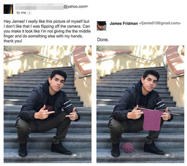 Photoshop Troll James Fridman Hits Again