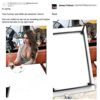 Photoshop Troll James Fridman Hits Again