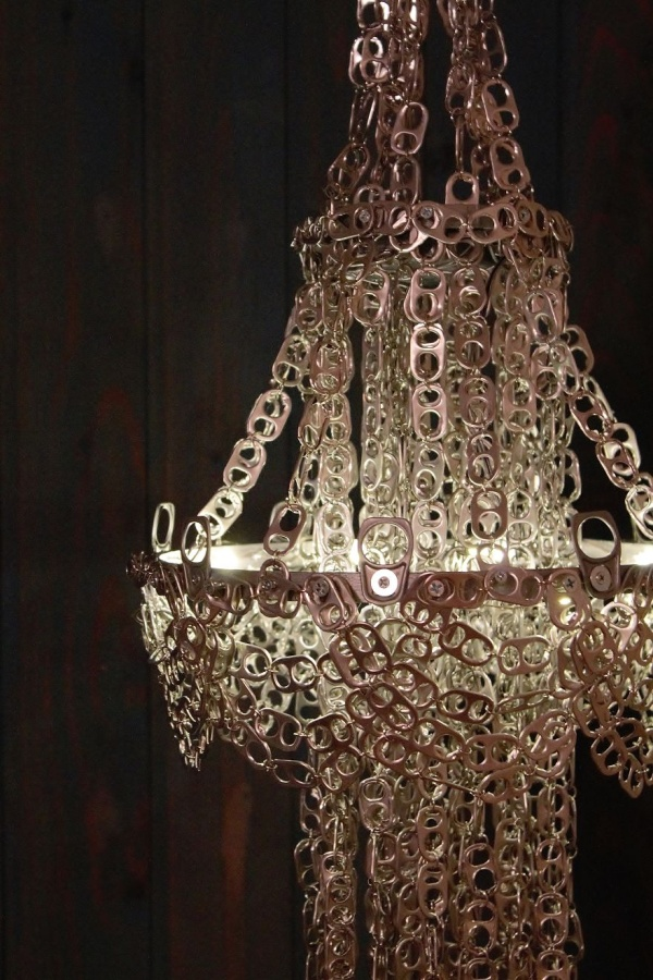 A Chandelier From Soda Can Tabs