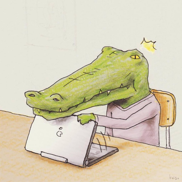 Crocodile In The World Of People