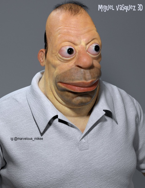 So Homer Simpson Would Look In Real Life