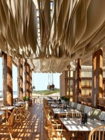 Check Out What Happens When The Wind Hits The Ceiling Of This Beach Bar