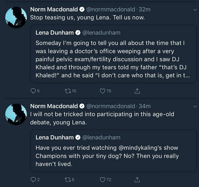 Norm Macdonald Spent His Weekend Correcting Lena Dunham