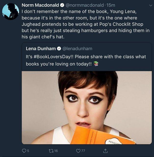 Norm Macdonald Spent His Weekend Correcting Lena Dunham