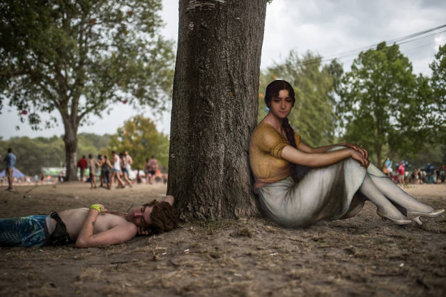 People From Classical Paintings Found Their Way To A Music Festival