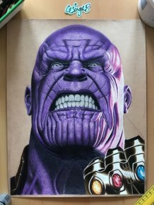Painted Thanos of the Avengers