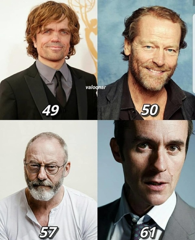 Current Age of Actors Game of Thrones
