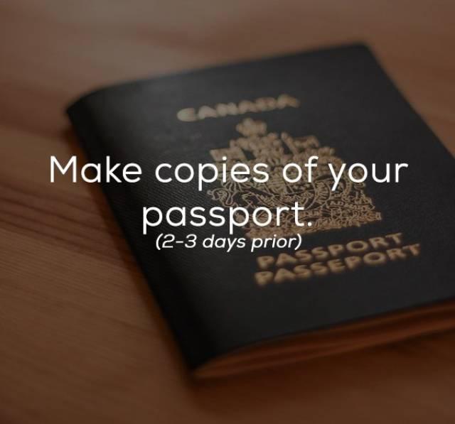 Checklist For A Trip