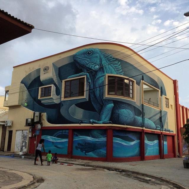 Artist Creates Large Scale Street Art Murals Across Europe