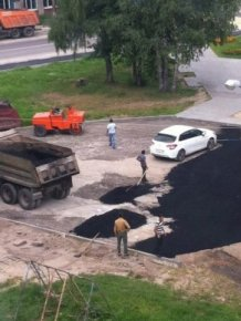 Road Repair Done Wrong